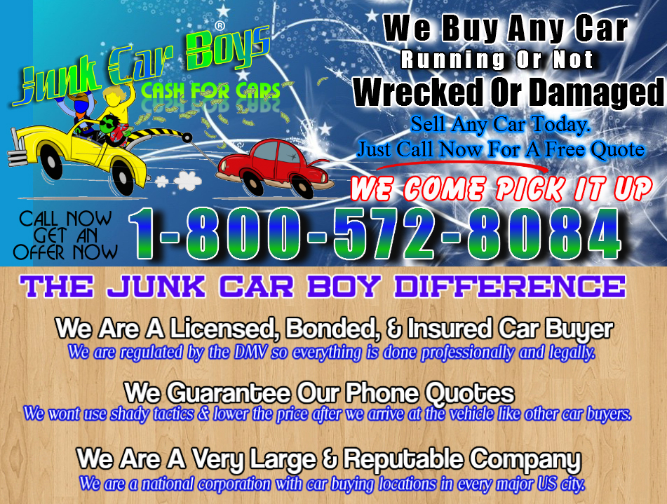 Cash For Cars Irvine CA - We Buy Junk Vehicles Same Day